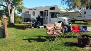 Our RV rental camping in Vermont.