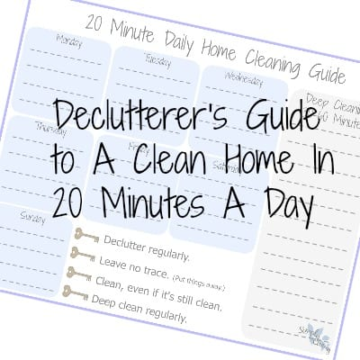 Clean home 20 minutes per day